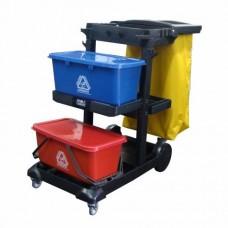 Carrinho de limpeza e remoção de lixo