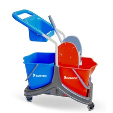 Carrinho balde espremedor para limpeza de quartos