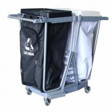 Carrinho para coleta de lixo e roupas