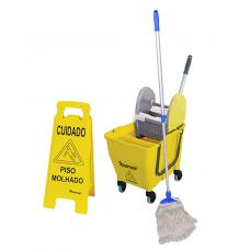 Carrinho para Limpeza Balde Espremedor limpeza úmida e seca